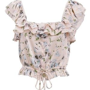 LoveShackFancy Mia Floral Top